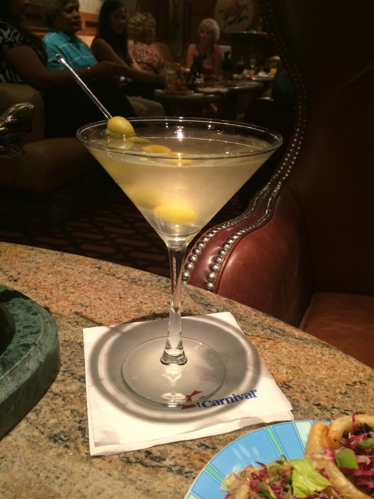 carnival cruise line dream dirty martini