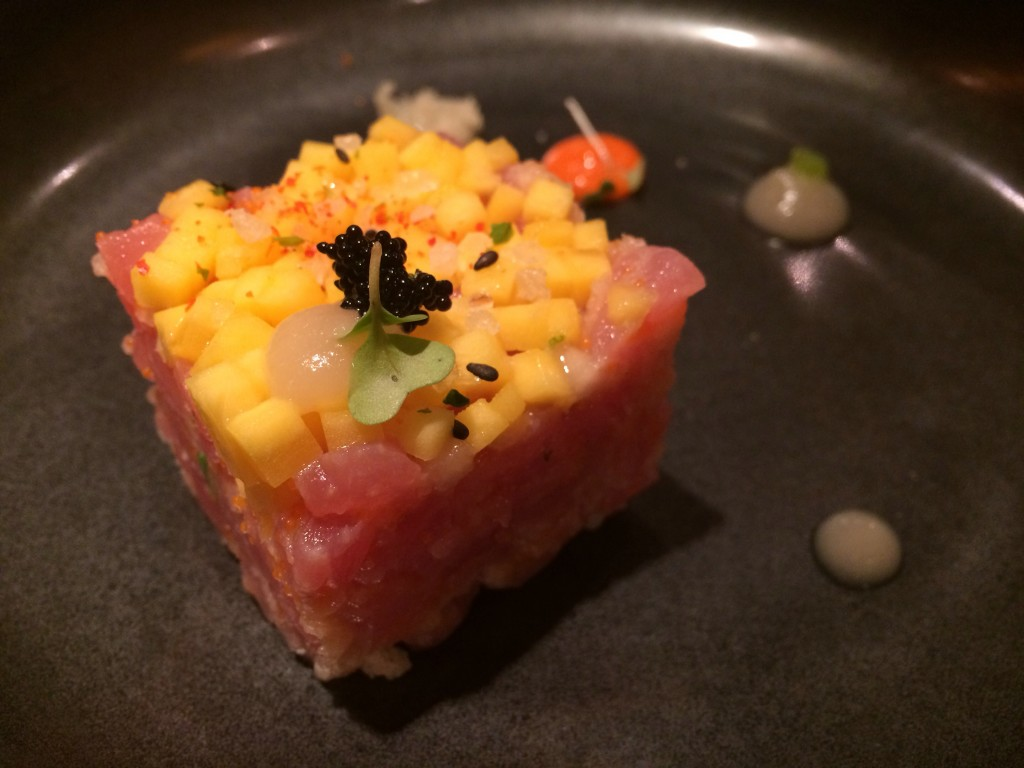 bonsai sushi restaurant carnival cruise sunshine tuna and mango tartare