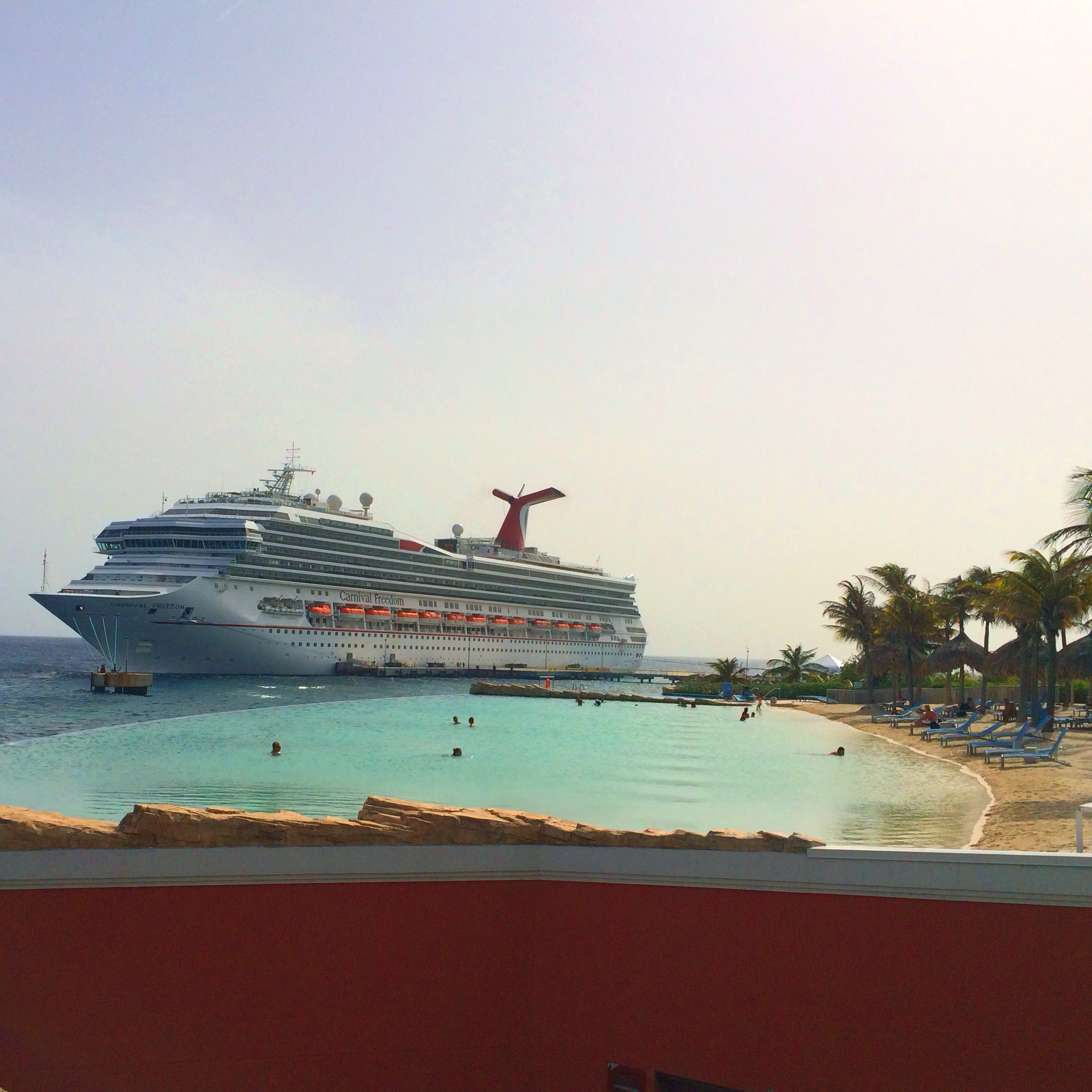 Renaissance Curacao Resort and Casino Infinity Beach and Carnival Freedom
