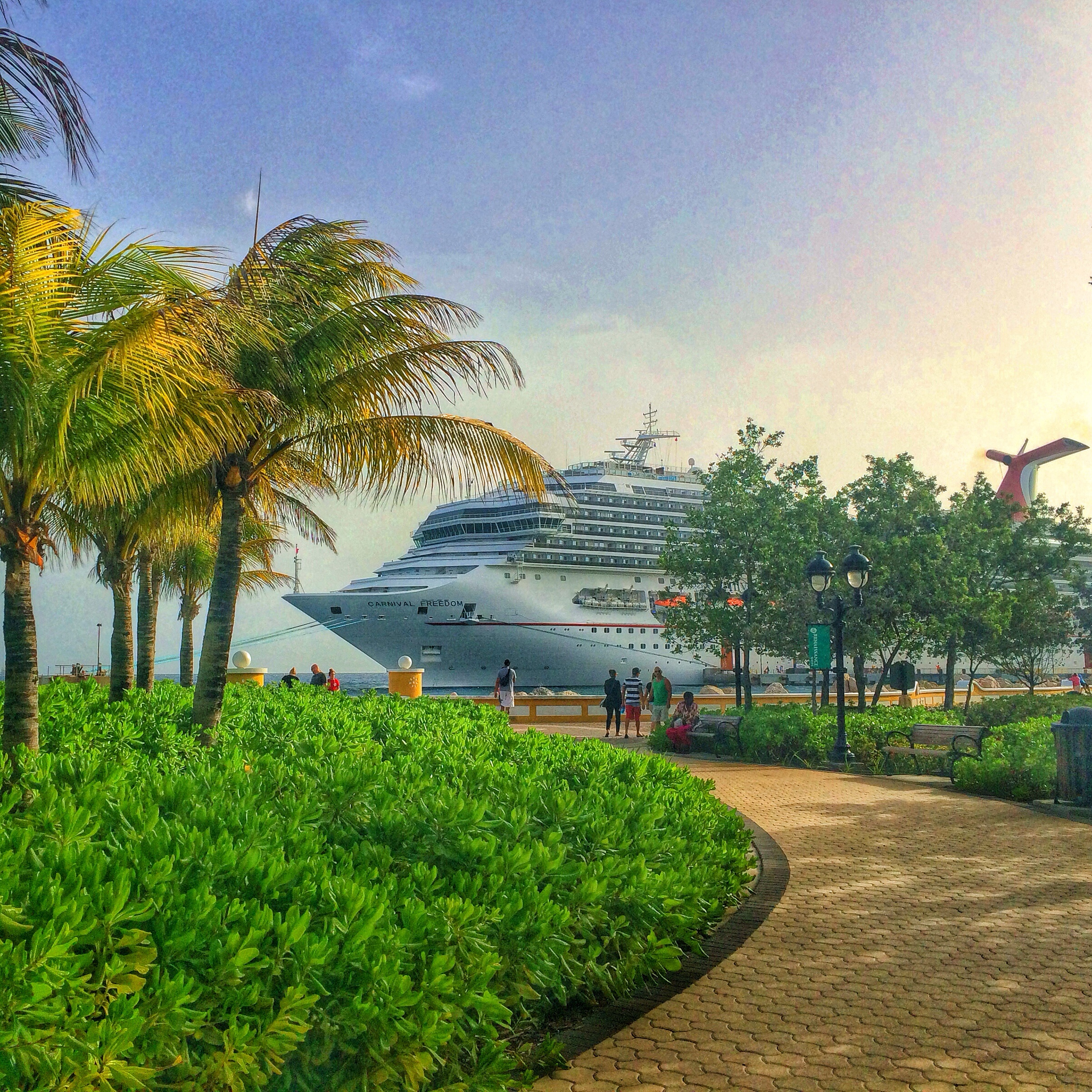 Carnival Freedom Docked in Curacao