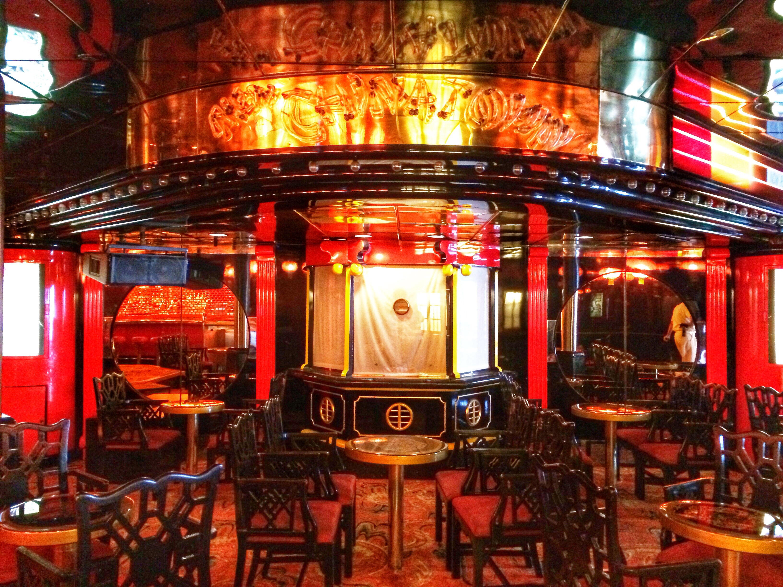 A Look Inside The China Town Lounge On The Carnival