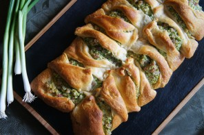 Buttery Croissant Broccoli Ham and Cheese Braid Recipe