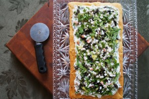 Creamy Garden Seafood Pizza with Crescent Roll Crust