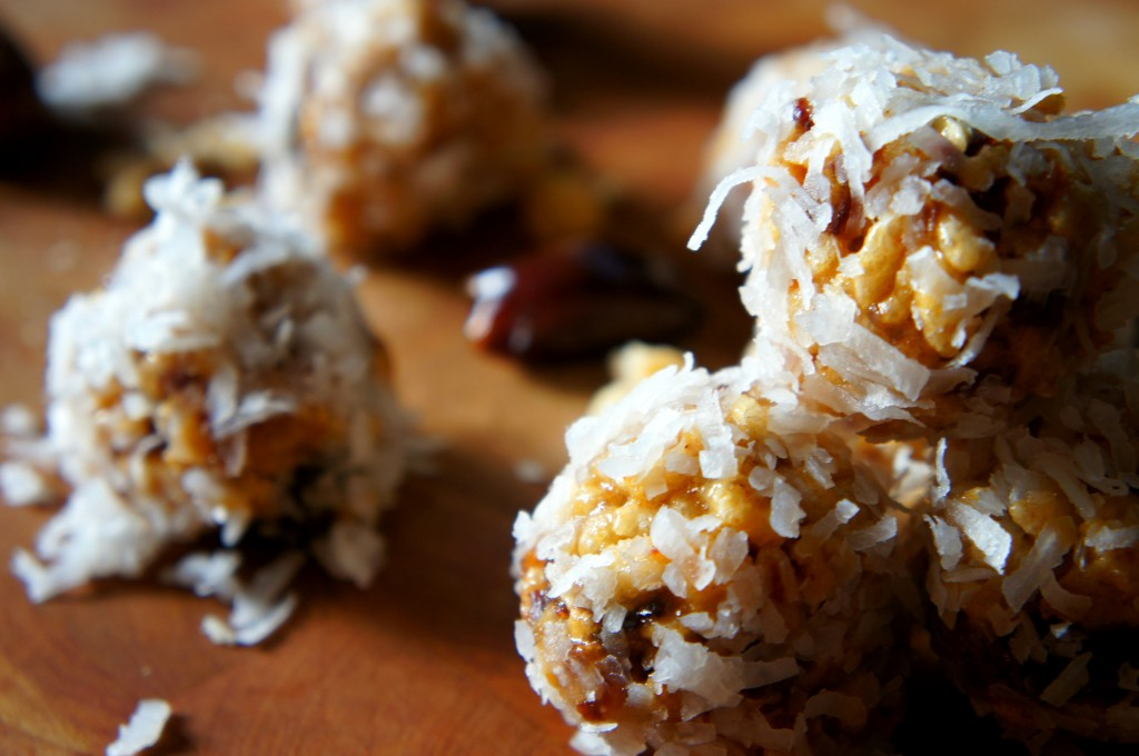 Coconut Date Ball Christmas Cookies