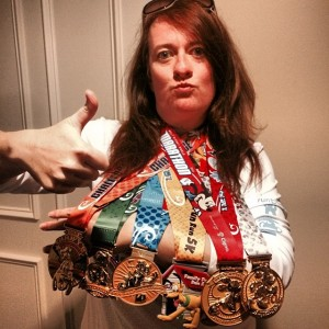 Amanda Tinney Inaugural 2014 Dopey Challenge Medals