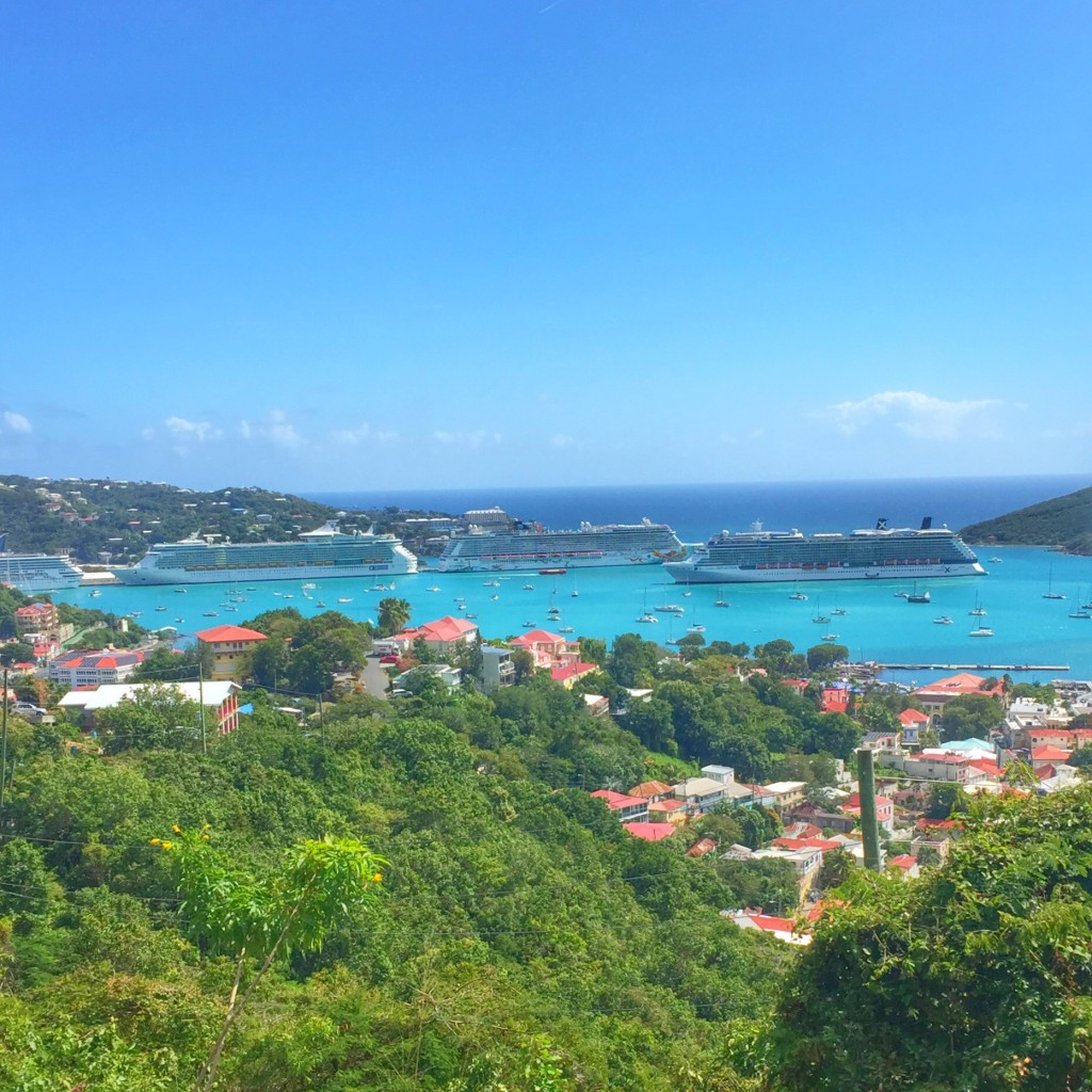 Cruise Ships in Port of St. Thomas