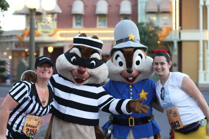 Halloween 5K in the Magic Kingdom with Chip and Dale