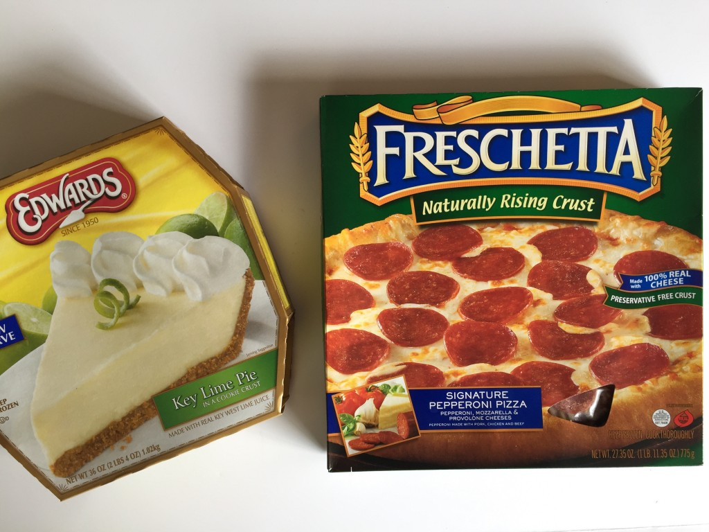 Pepperoni Pizza and Key Lime Pie