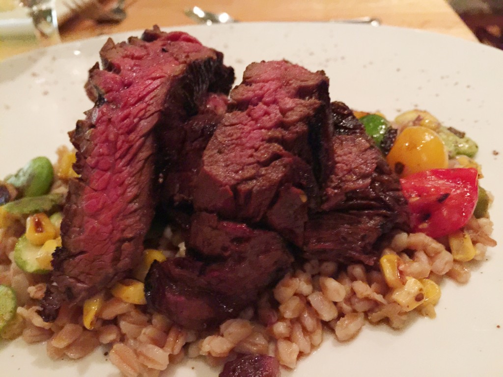 Dinner at The Fat Snook on Florida's Space Coast - Sorghum Glazed Florida Grass Fed Hanger Steak