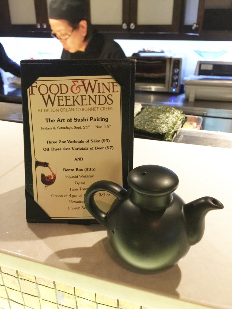 Food & Wine Weekends at the Bonnet Creek Hilton and Waldorf Astoria Orlando Resort - The Art of Sushi Pairing