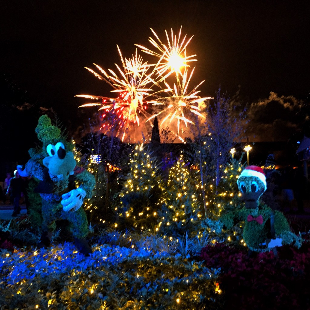 Christmas at Epcot in Walt Disney World