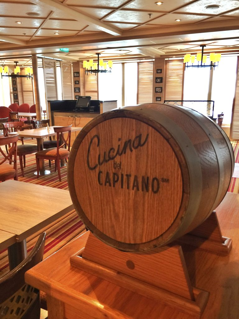 Cucina del Capitano Restaurant on Carnival Cruise Line