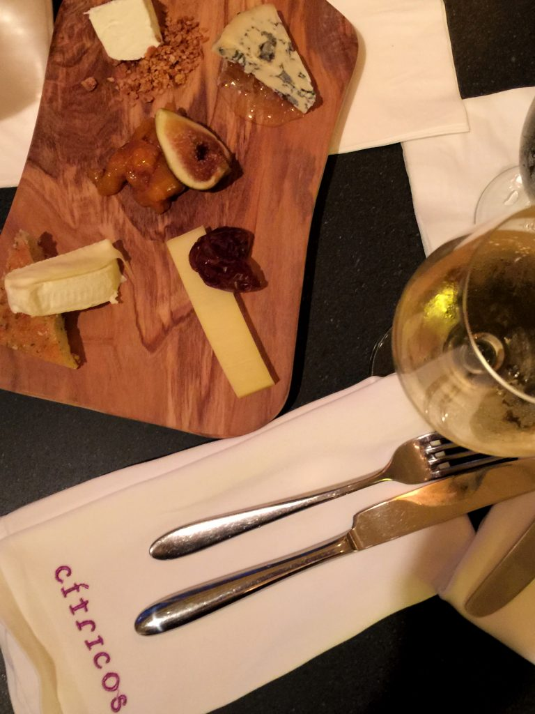 Walt Disney World's Citricos Lounge Cheese Board and Wine