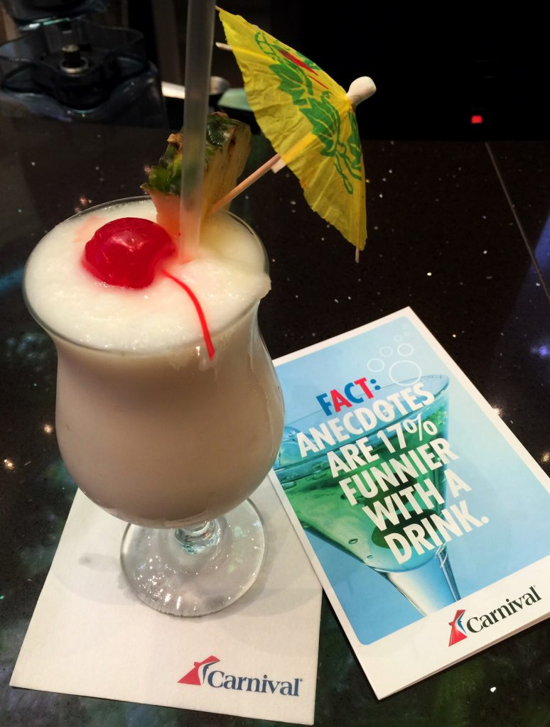 Cocktails on the Carnival Vista