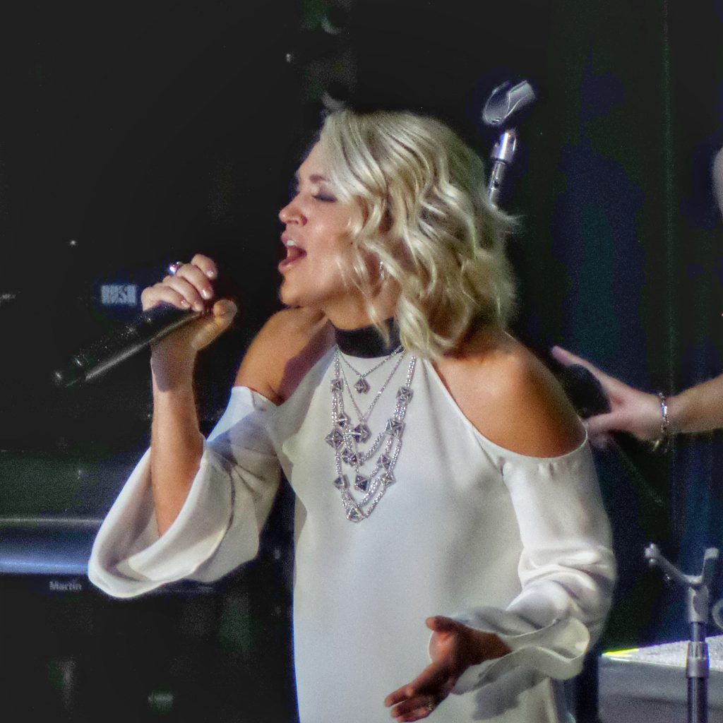 Carrie Underwood performs on the Carnival Vista Cruise Ship