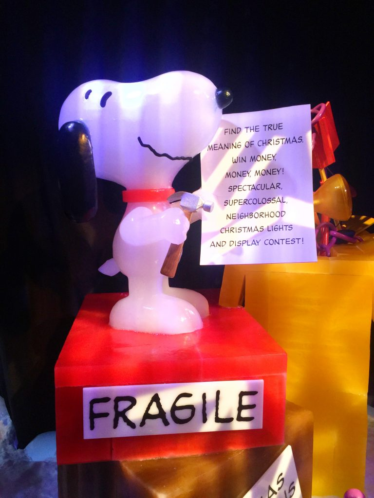 Photo Tour of A Charlie Brown Christmas Carved in ICE at Gaylord Palms