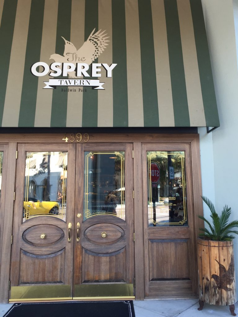 Lunch at Osprey Tavern Orlando