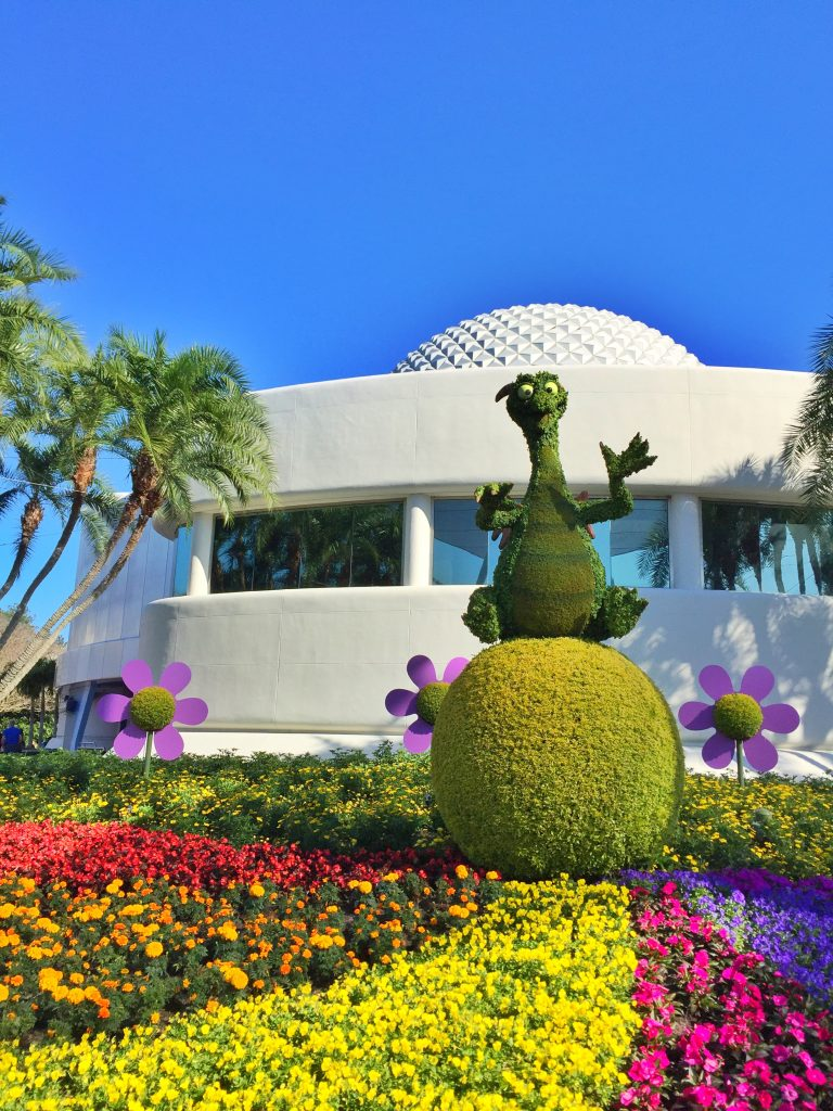 Disney's Epcot International Flower and Garden Festival Figment Topiary
