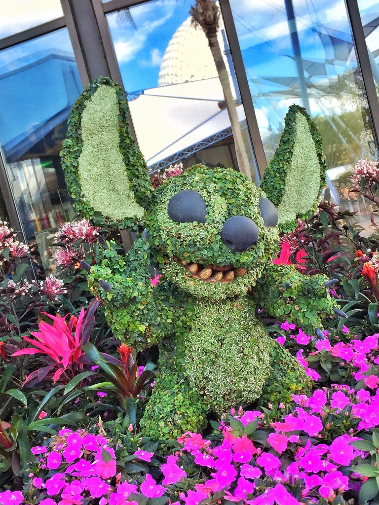Disney's Epcot International Flower and Garden Festival Stitch Topiary