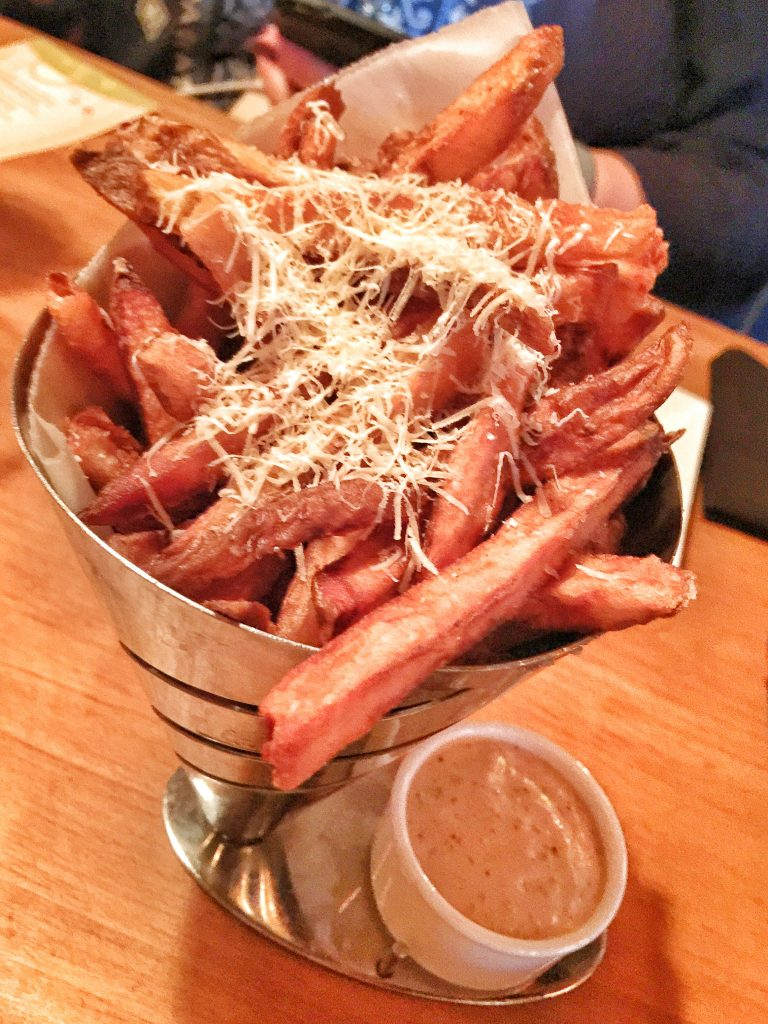 Truffle french fries at crews cup lounge at Disney's yacht club resort