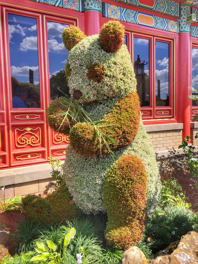Disney's Epcot International Flower and Garden Festival Panda Topiary