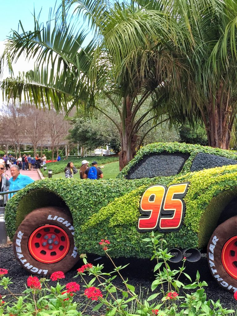 Disney's Epcot International Flower and Garden Festival Lightning McQueen Topiary