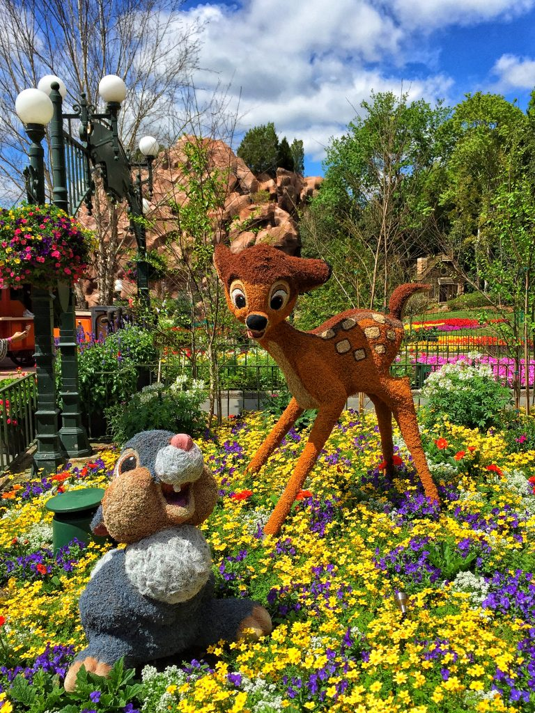 Disney's Epcot International Flower and Garden Festival Bambi Topiary