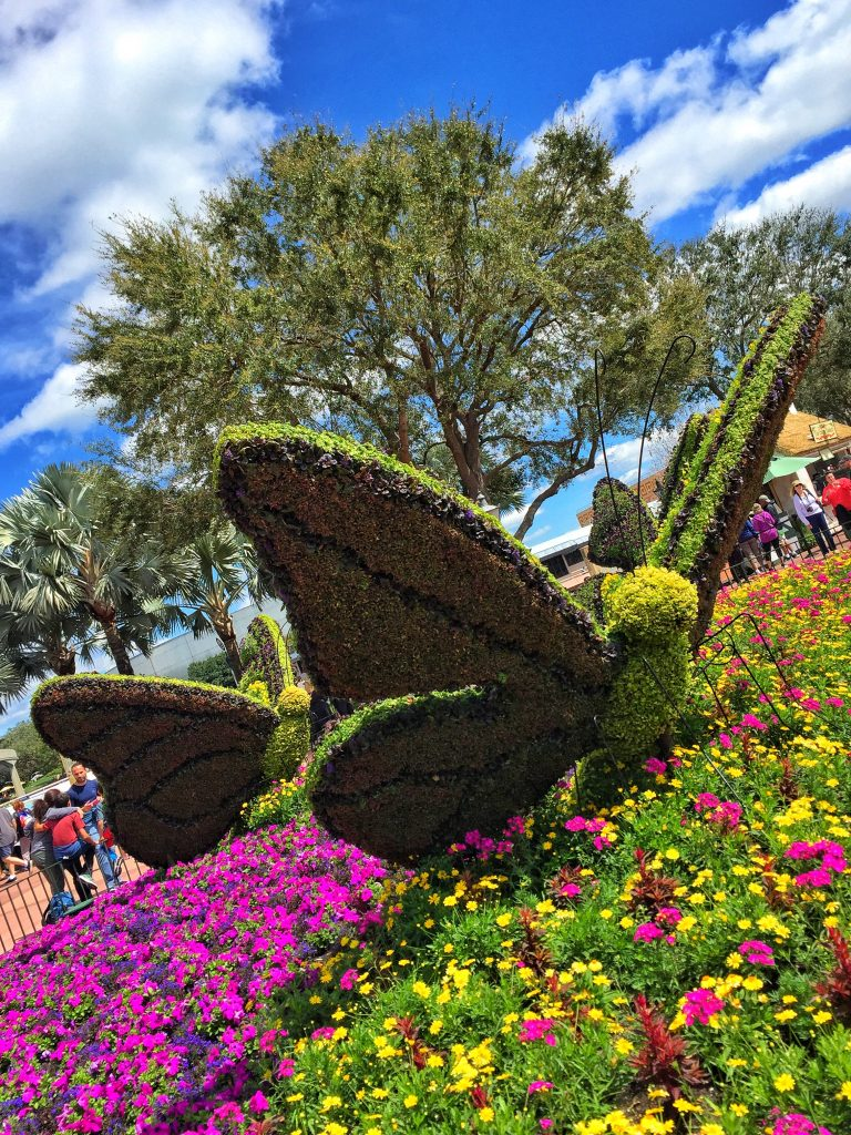 Disney's Epcot International Flower and Garden Festival Butterfly Topiary
