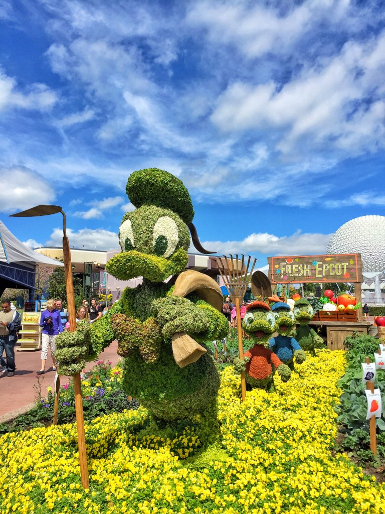 Disney's Epcot International Flower and Garden Festival Donald Duck Topiary