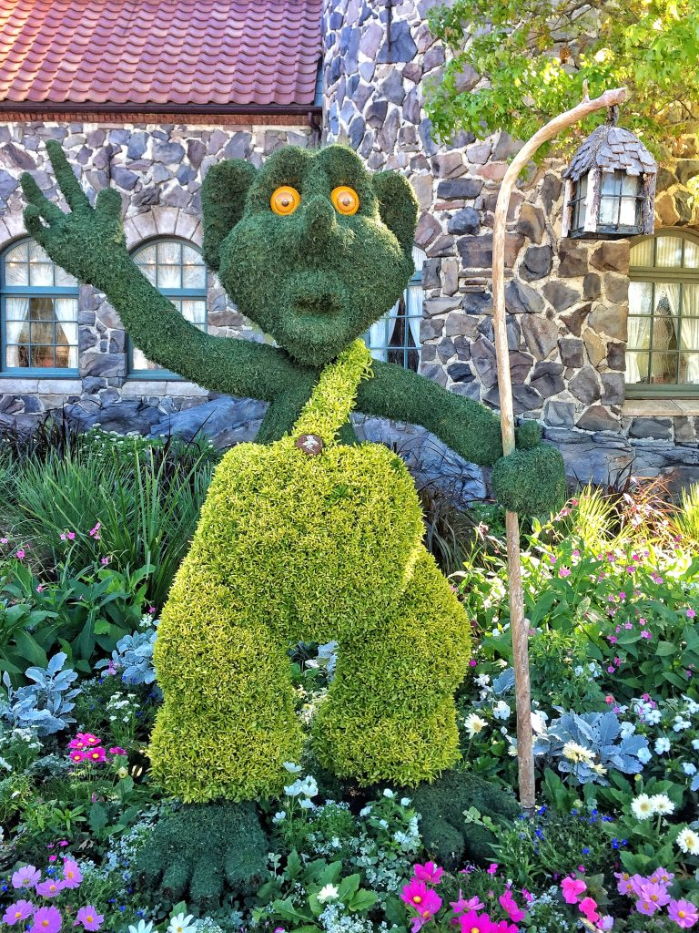 Disney's Epcot International Flower and Garden Festival Troll Topiary
