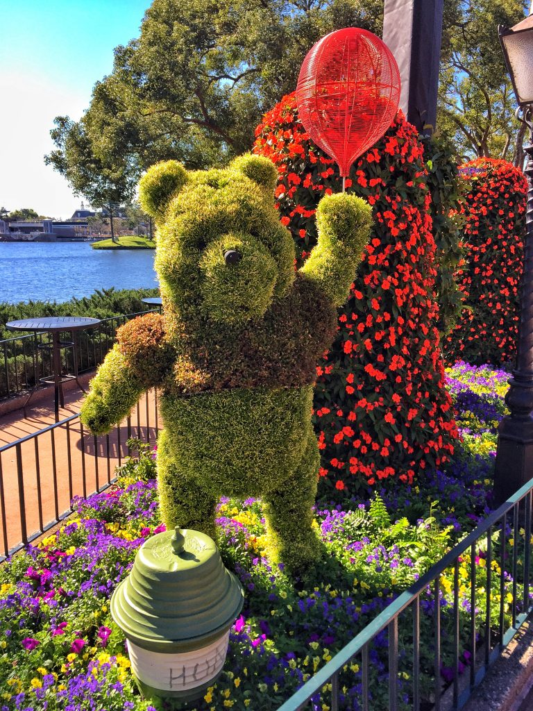Disney's Epcot International Flower and Garden Festival Winnie the Pooh Topiary