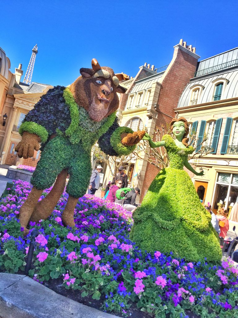 Disney's Epcot International Flower and Garden Festival Beauty and the Beast Topiary