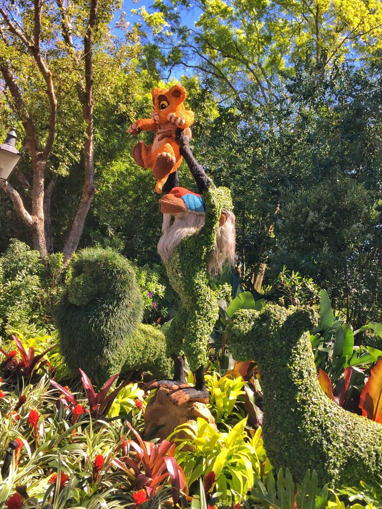 Disney's Epcot International Flower and Garden Festival Lion King Topiary