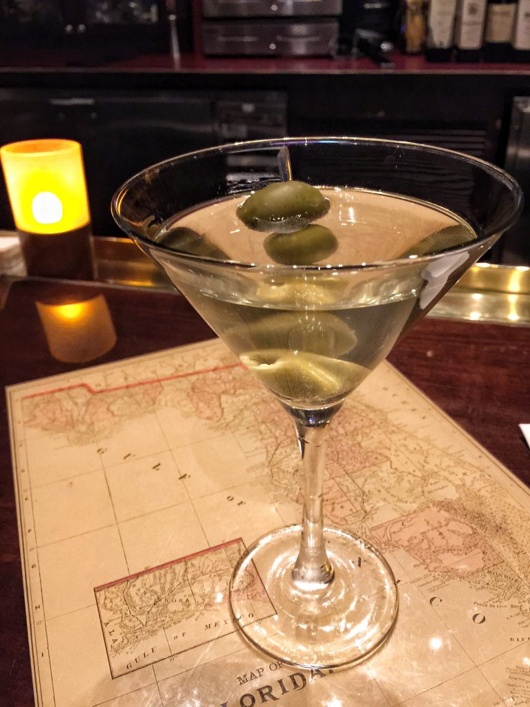 Dirty Martini at Old Hickory Steakhouse in Gaylord Palms Resort in Orlando Florida