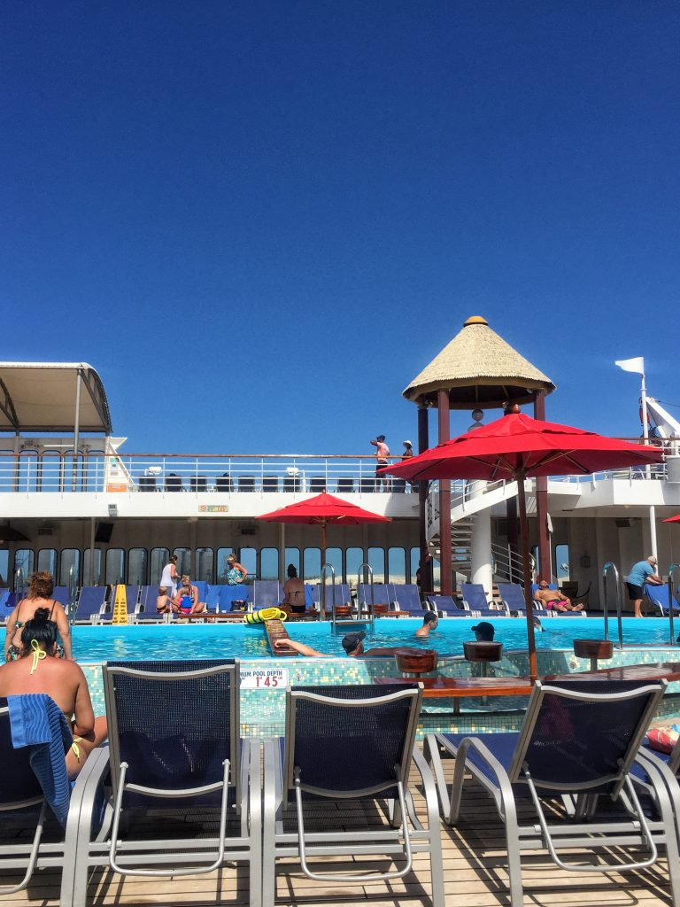 Carnival Cruise Line's Fascination pool deck