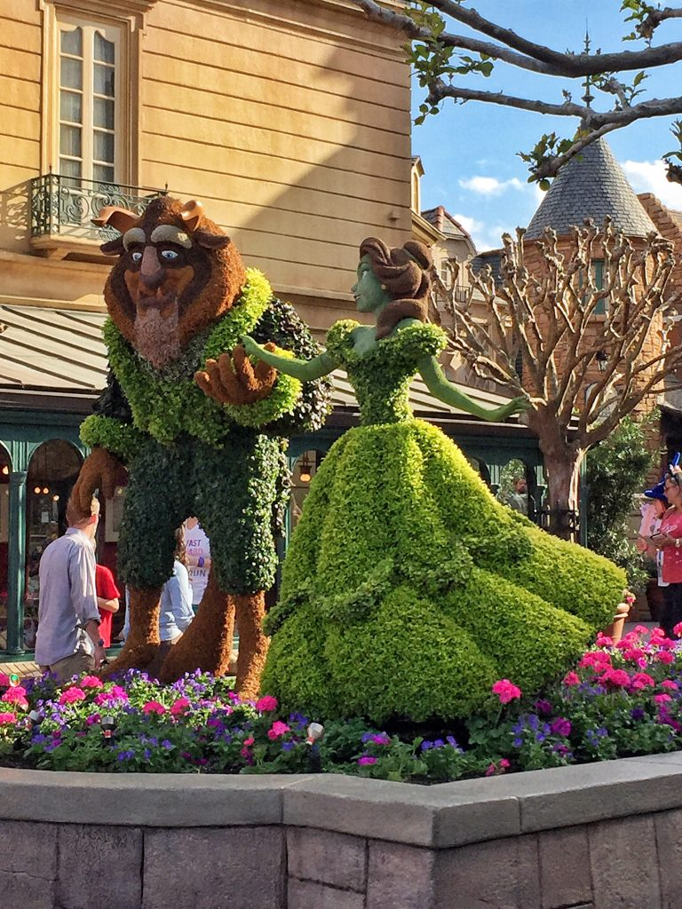 Epcot International Flower and Garden Festival Beauty and the Beast Topiary