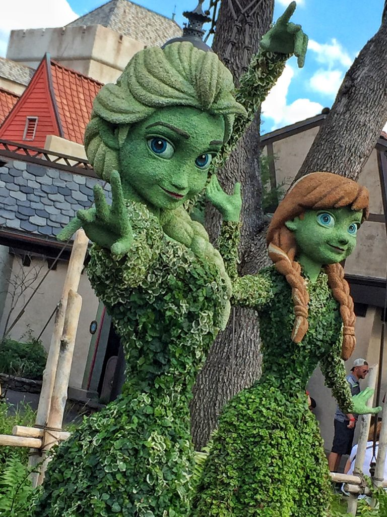 Epcot International Flower and Garden Festival Frozen Topiary