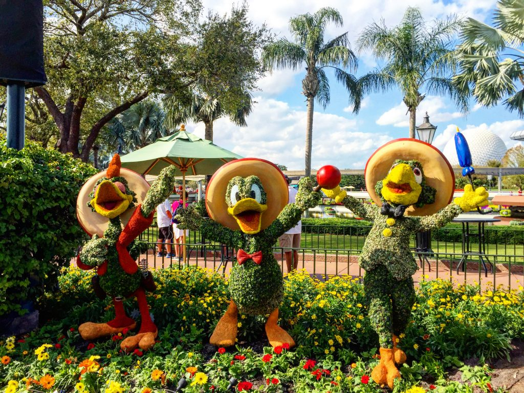 Epcot International Flower and Garden Festival Three Caballeros Topiary
