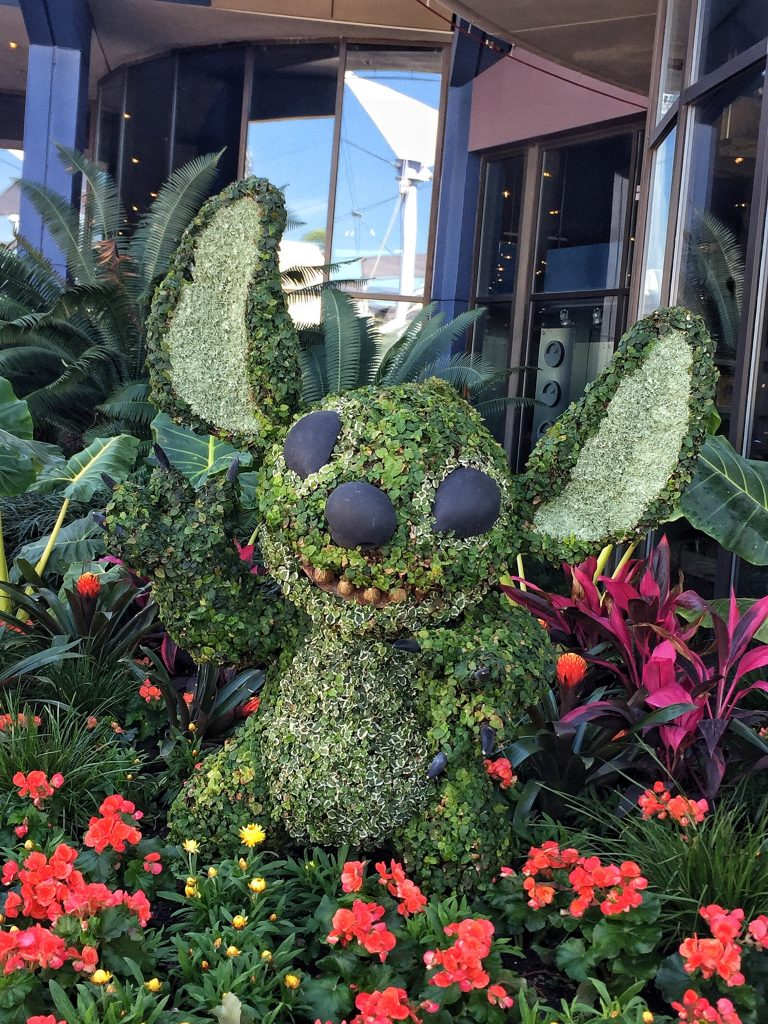 Epcot International Flower and Garden Festival Stitch Topiary