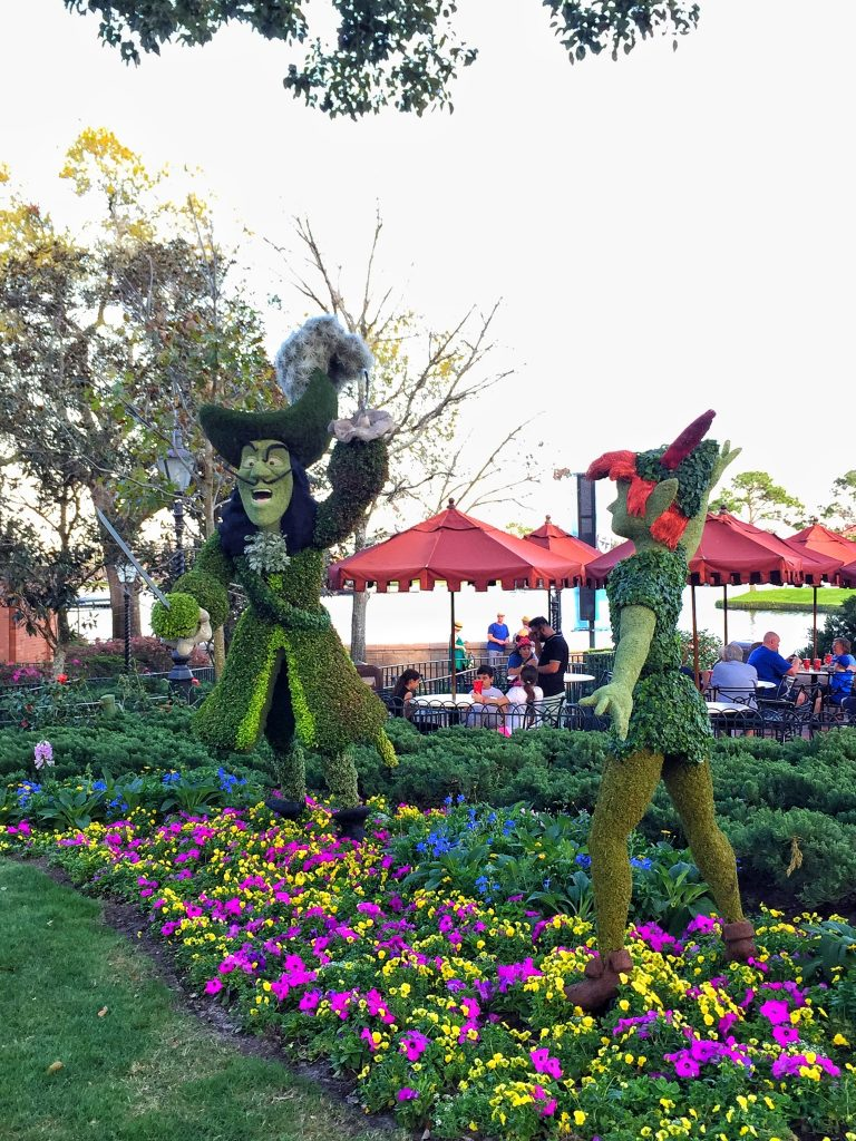 Epcot International Flower and Garden Festival Peter Pan Topiary