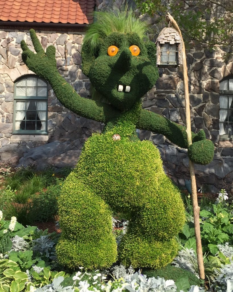 Epcot International Flower and Garden Festival Troll Topiary
