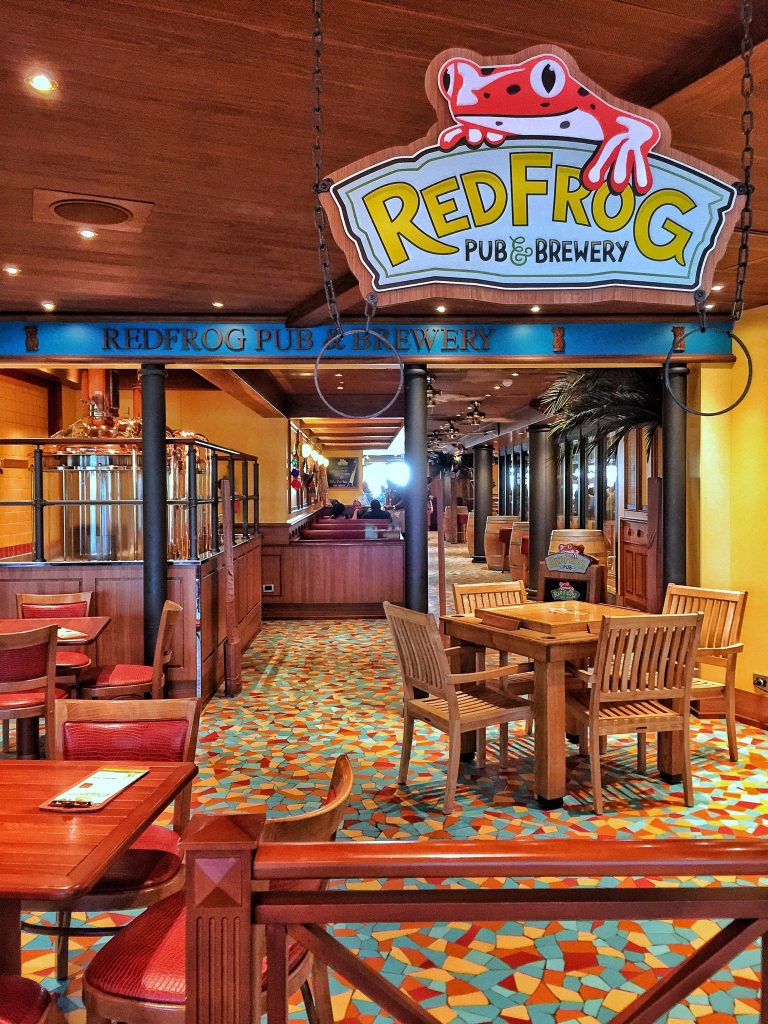 Red Frog Pob and Brewery on Carnival Vista