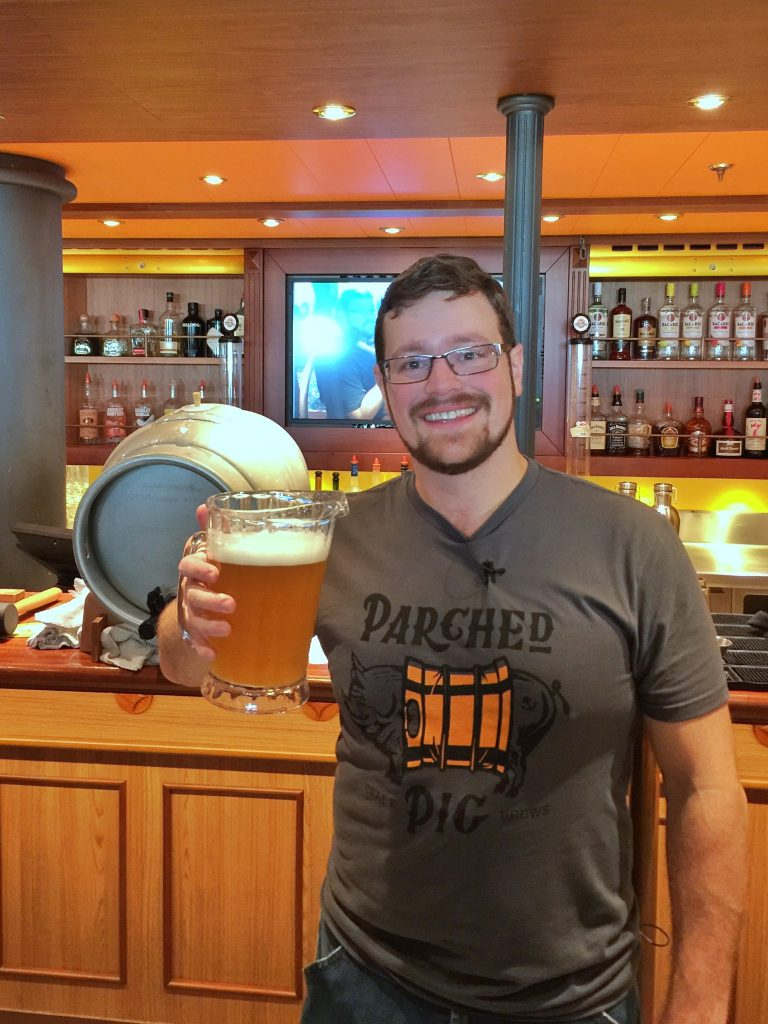 Parched Pig Craft beers on the Carnival Horizon cruise ship