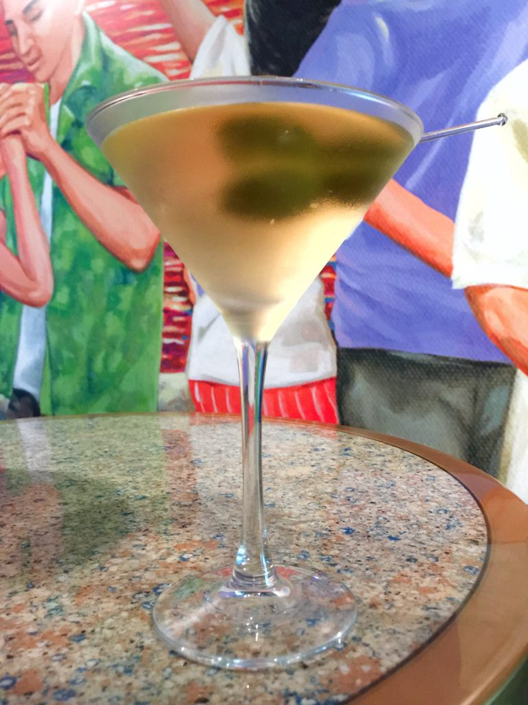 Dirty Martini at Havana Bar on Carnival Horizon