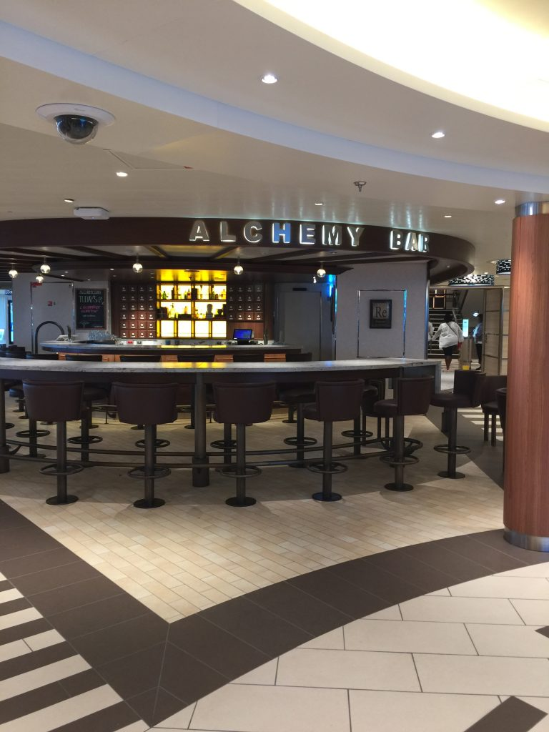 Alchemy Bar on the Carnival Horizon cruise ship
