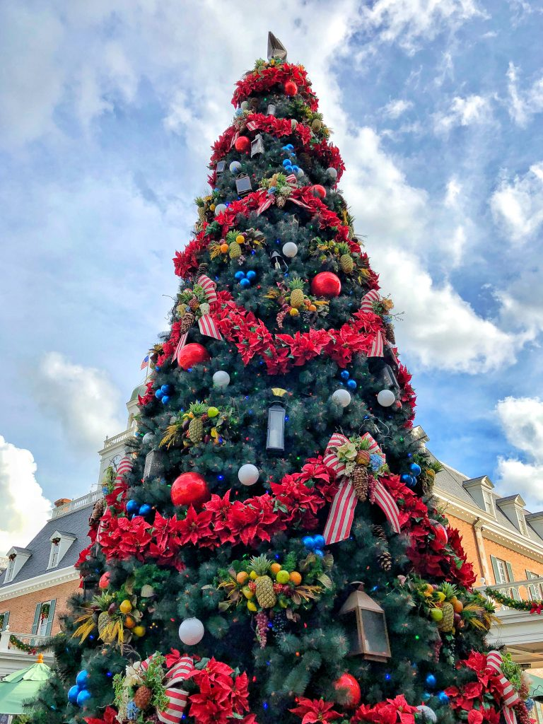 Epcot International Festival of the Holidays Christmas Tree
