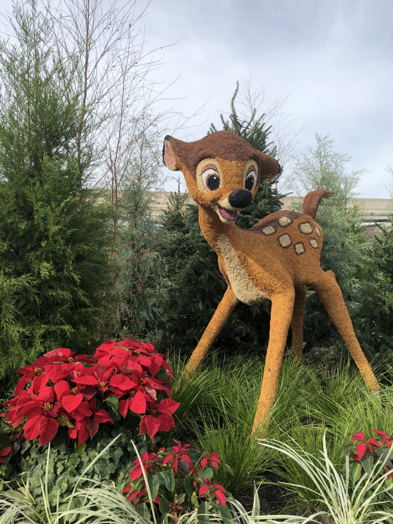 Epcot International Festival of the Holidays Bambi Topiary